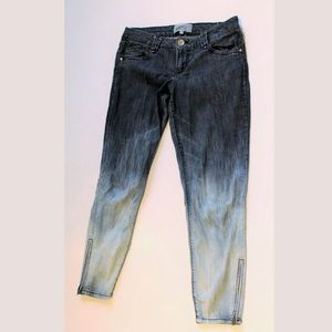 Jolt stretch skinny jeans Blue ombre Ankle zip sz9